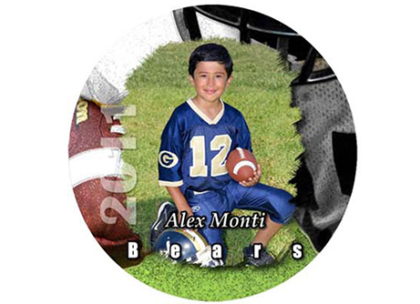 youth sports photo button