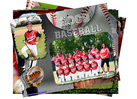 youth sports digital photo composite