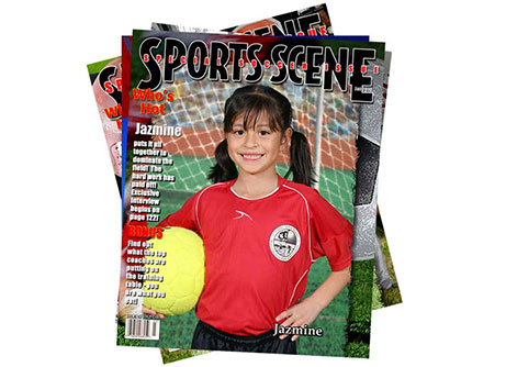 youth sports photo magazine cover