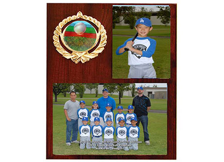 youth sports photo plaques