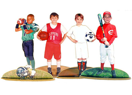 youth sports statuettes