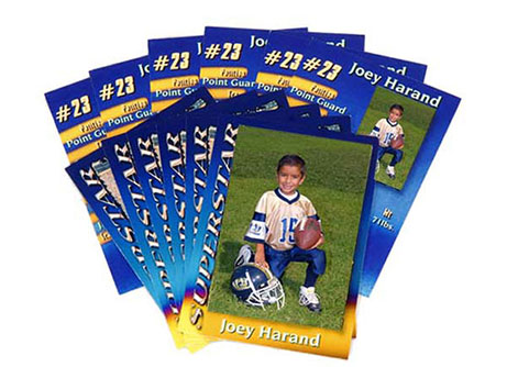youth sports trading cards